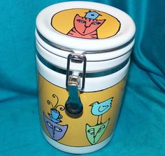 Bad Cat Collection Kitty Treat Canister Cookie Jar Ursula Dodge Signature 1.75qt