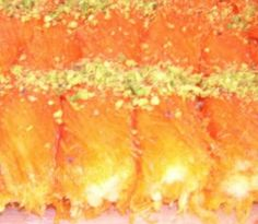 Knafeh, the druze-arabic dessert. A combination between cheese, noodle threads and sweet (very sweet...) syrup. This one is made by Havaya Druzit (a druza experience) catering