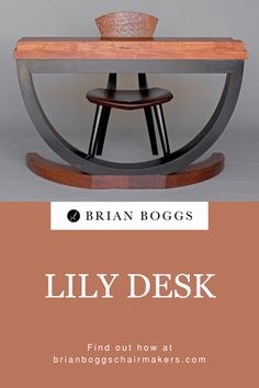 Our cantilevered Lily desk accents any foyer, bedroom, or small office. A writing desk with a minimalist footprint, customize this piece to your desired height and tabletop dimensions. Beautiful paired with a custom height Lily chair. #table #home #lilytable #BrianBoggs #woodchair #furniture #woodwork #diningtable Handmade Furniture, Wooden Furniture, Wood Artwork, Solid Wood Desk, Diy Home Decor Projects, Small Office, Writing Desk, Home Office Decor, Footprint