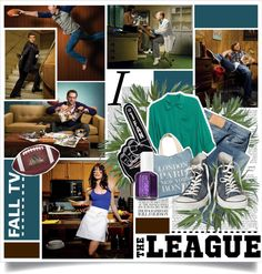 """FALL TV: The League"" by blacktieaffair ❤ liked on Polyvore"