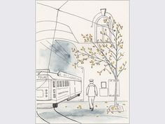 Ink and watercolour drawing of the Christchurch by AnnaCullArt, $47.00