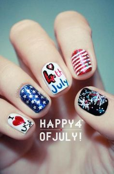 girlshue - 15 Amazing 4th Of July Nail Art Designs & Ideas 2013