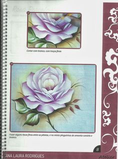 Talita Monteiro: C/Womo Pintar Rosa Porcelanizada/Wilma Cherpinsky board on painting roses, beautiful projects!
