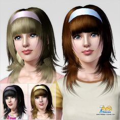 Emma's Simposium: Free Hair Pack #222 By PeggyZone - Donated/Gifted ...