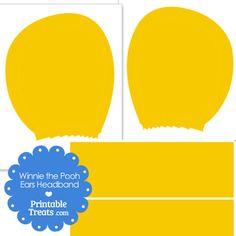 Printable Winnie the Pooh Ears from PrintableTreats.com