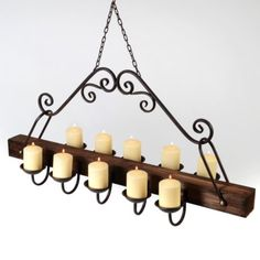 Rustic Hanging Candle Chandelier #kirklands #westernsunset. I think this would look good over your table @Samantha Hoppel