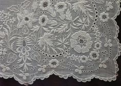 Exquisite whitework from  Italian Needlework blog: Fine Italian Whitework