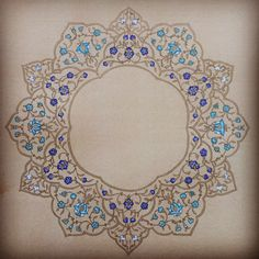 "117 Beğenme, 18 Yorum - Instagram'da @r_u_k_s: ""#Islamicart #illumination #geometry #islamicgeometry #flowers #gouache #fineart #shellgold #gold"""