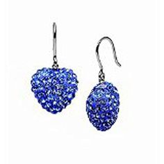 * Penny Deals * - 11 Mm Each Cubic Zirconia Blue Ocean Color Heart Drop Earrings Carat 5.00 * Continue to the product at the image link.