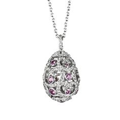 Fabergé Impératrice Pink Sapphire White Gold Pendant #Fabergé #FabergéEgg #diamond #pendant