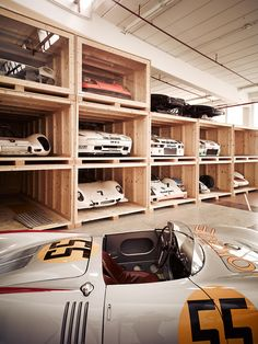 Inside the hidden warehouse of Stuttgart's Porsche museum.