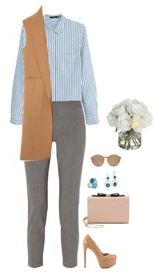 """""""#1903"""" by azaliyan ❤ liked on Polyvore featuring MANGO, Theory, Schutz, See by Chloé, Tacori, Linda Farrow, Alexander Wang and Diane James"""