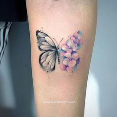 41 Pretty Butterfly Tattoo Designs and Placement Ideas Finger Tattoo – Top Fashion Tattoos Watercolor Butterfly Tattoo, Colorful Butterfly Tattoo, Butterfly Wrist Tattoo, Butterfly Tattoo Meaning, Butterfly Tattoos For Women, Cute Tattoos For Women, Wrist Tattoos For Women, Butterfly Tattoo Designs, Small Tattoo Designs