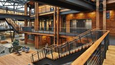 Commercial Wood Design: Federal Center South – Building 1202 in Seattle, WA Architect – ZGF Architects LLP Structural Engineer – KPFF Consulting Engineers General Contractor – Stellan Construction Deco Cool, Wood Architecture, Commercial Design, Popup, Office Interiors, Design Awards, Wood Design, Halle, Second Floor
