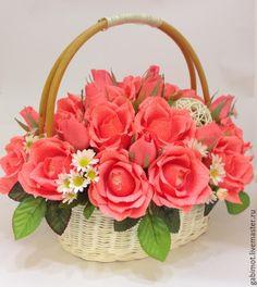 Basket Flower Arrangements, Beautiful Flower Arrangements, Floral Arrangements, Very Beautiful Flowers, Amazing Flowers, Flower Box Gift, Birthday Bouquet, Valentines Flowers, Flower Clipart