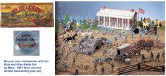 civil war toy playset | toy from the Sixties: Marx Civil War play set