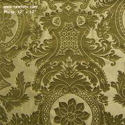 """Monaco - Bamboo"" Damask Design Fabric for Drapery & Home Decor New Toto  $8/ yard 56in"