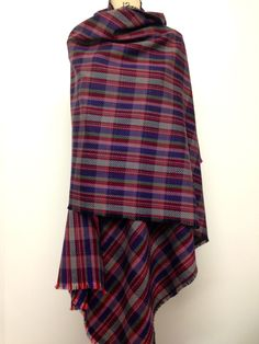 Plaid Oversized Scarf - Blanket Scarf - Wool Scarf - Plaid Tartan Stole Large Winter Shawl Mens Poncho - Accessories Scarf Gift - Made in UK by CardamomClothing on Etsy https://www.etsy.com/listing/213155147/plaid-oversized-scarf-blanket-scarf-wool