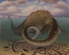 Jacek yerka surrealismo pinturas