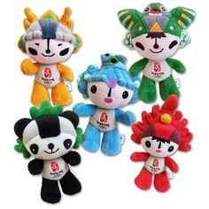 2008 Beijing Olympics Store: Beijing Mascot Plush Set