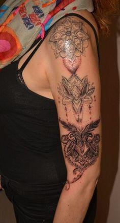 Mandala sleeve in progress   Half fresh / half healed  by Adda Transilvaniatattoo  www.facebook.com/adda.transilvaniatattoo