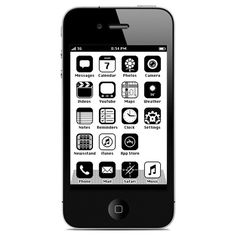 This retro iPhone interface, called iOS is designed by Anton Repponen. via Iphone Interface, Anton, Iphone Design, Mac Os, Iphone 4s, Apple Iphone, Iphone Cases, Web Mobile, 8 Bits