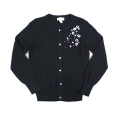 black cardigan, Children's Place cardigan, black sweater