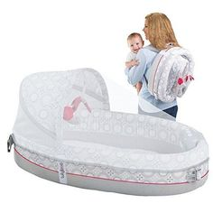 Portable Travel Bassinet Backpack Carrier Baby Cradle Travel Crib Music  #travelbassinet