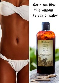 Made with nature's vitamin rich oils and butters that give you a luminous look and a flawless tan.