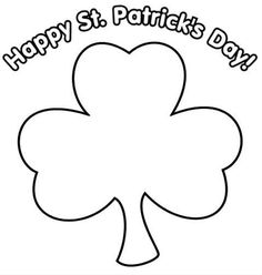 shamrock coloring pages google search coloring stpatricks day pinterest saints google search and google