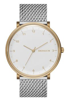 Skagen Montre Bracelet pour Hommes Signature Gris Argent Or Mesh Bracelet, Bracelet Watch, Bracelets, Best Watches For Men, Big Watches, Cheap Watches, Ladies Watches, Mesh Armband, Skagen Watches