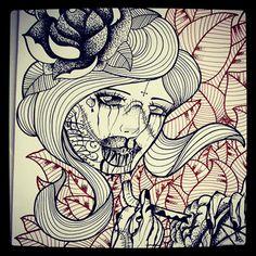 #FALLEN #rose #drinkingblood #goat #flowers #ink #inked #face #draw #tattooflash #inkedwoman #cross #god #brain #models #pentagram #drawing #art #mind #drawings #heart #flashart #blind #inked #halfmoon #hand #scars #darkangel