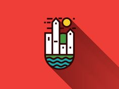 Town icon on dribbble inspired