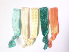 Elastic Hair ties Ponytail Holder Fashion Accessories by TheLUX22   #nocreasehairties #etsy #etsyhomemade #supporthomemade #hairties #hairaccessory #accessory #hair #foldoverelastictie #foldoverelastic #stockingstuffer #giftsforgrads #giftsforgirls