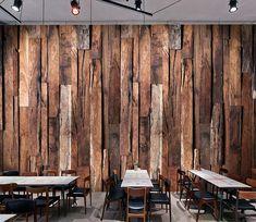Wall Murals - Wallpaper - U. Delivery Page 7 Rustic Wood Walls, Wood Wall Decor, Wooden Walls, Barn Renovation, 3d Wall Murals, Wood Cladding, Wood Wallpaper, Wood Panel Walls, Wall Bar