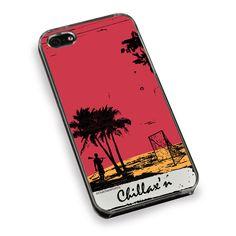 Lacrosse Phone Case Chillax'n Beach Guy