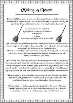 Make A Besom