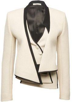 Bouchra Jarrar Asymmetrical Layered Jacket