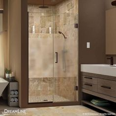 glass shower doors etched