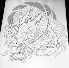 New japanese dragon shoulder tattoo Ideas Dragon Tattoo Colour, Dragon Tattoo Drawing, Dragon Sleeve Tattoos, Dragon Tattoo Designs, Tattoo Sleeve Designs, Japanese Tattoo Women, Japanese Dragon Tattoos, Japanese Tattoo Designs, Japanese Tattoo Art