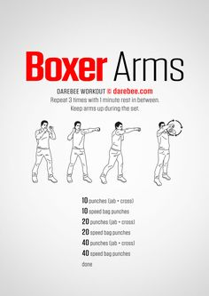 Boxer Arms Workout | Posted by: NewHowtoLoseBellyFat.com