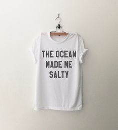 The ocean made me salty Graphic Tee Women T-shirt by CozyGal