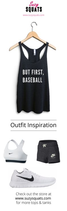 Suzy Squats funny baseball tank top, perfect to wear during your next baseball game or as a gift for a baseball loving friend! You can find more funny sports clothing for the baseball field at the Suzy Squats store by clicking the link above.