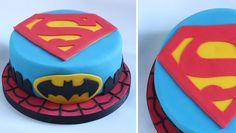 Super Hero cake - Superman Batman and Spiderman