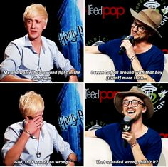 Tom Felton - he did it again :)<<Tom Felton is one of the reasons I love Draco Malfoy so much Arte Do Harry Potter, Draco Harry Potter, Harry Potter Humor, Harry Potter Ships, Harry Potter Universal, Harry Potter World, Harry Potter Actors, Tom Felton Harry Potter, Drarry