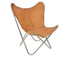Chaise NATHANIEL, cuir et métal - marron et métal - L74 399€