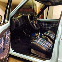 Post your rabbit pickup Volkswagen Golf Cabriolet, Cabrio Vw, Volkswagen Caddy, Vw Mk1 Rabbit, Vw Rabbit Pickup, Automotive Upholstery, Car Upholstery, Custom Car Interior, Truck Interior