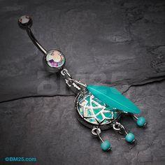 Opal Sparkle Dreamcatcher Belly Button Ring