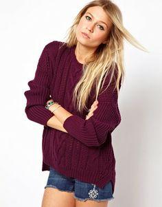 Suéter de punto de aran de ASOS