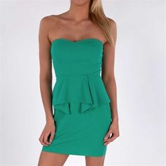 aryn K. Women's Contemporary Strapless Peplum Dress #VonMaur #arynK #Green